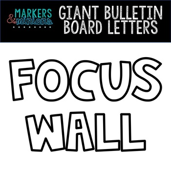 Giant Bulletin Board Letters - FOCUS WALL