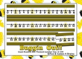 Giant Bumble Bee Bug Themed number line 0-100