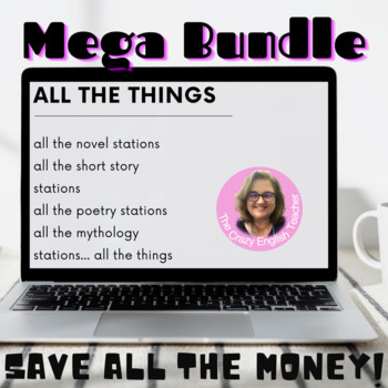 Growing Bundle of Novel literacy Stations: Poetry, Mythology, Epic, Novel,Drama
