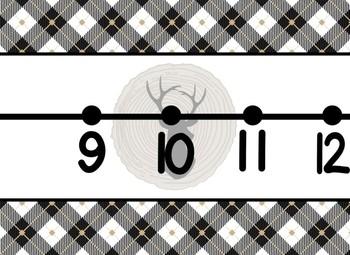 Giant Cabin Deer Themed number line 0-100