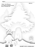 Giant Christmas Tree Coloring Page
