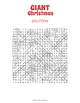 GIANT Christmas Word Search Puzzle