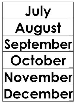 Giant Class Calender display (Freebie)