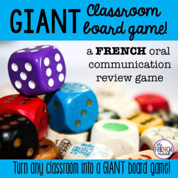 Giant Classroom Board Game for French Oral Review