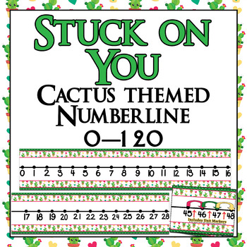 Giant Classroom and Student Cactus Themed number lines 0-100