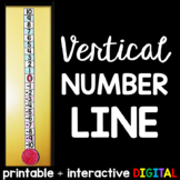 Vertical Number Line for Integers