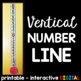 Vertical Number Line - print and digital
