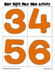 Giant Digits Place Value Activity
