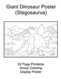 Giant Dinosaur Coloring Classroom Display Poster