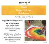 Giant Finger Painted Rainbows (STEAM, Art, Weather, Spring, St. Patrick's)