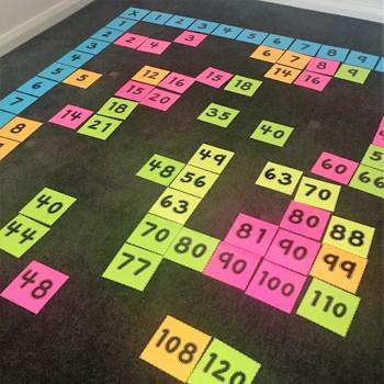 Giant Floor Multiplication Chart