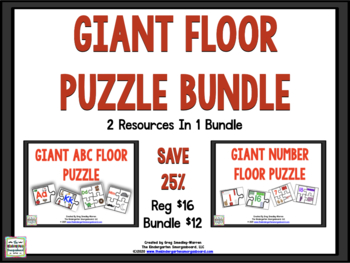 Giant Floor Puzzle Bundle!   ABC and NUMBERS Puzzles!