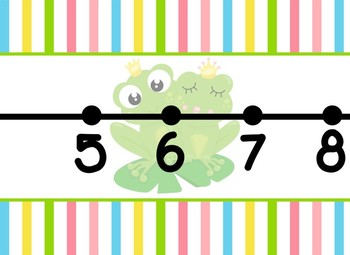 Giant Frog Prince Fairy Tale Themed number line 0-100