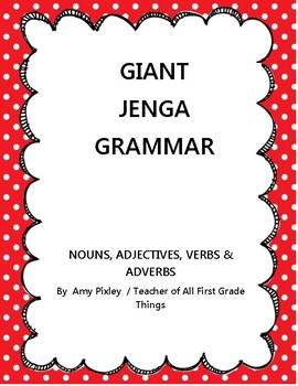 Giant Jenga Grammar