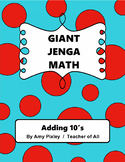 Giant Jenga Math Adding 10s