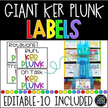Giant Ker Plunk Labels | Classroom Management | Whole Group Class Management