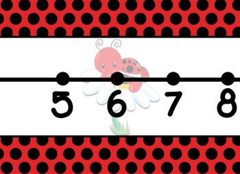 Giant Lady Bug Themed number line 0-100