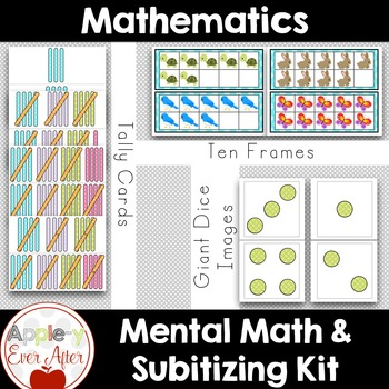 Giant Math Package - Subitizing Teacher tools & Student Games/Centres 100+ pages