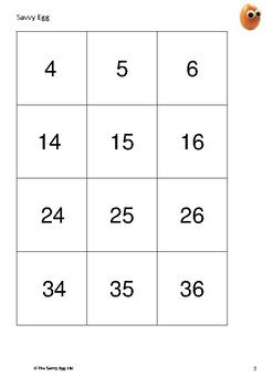 Giant Number Square to 100