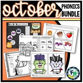 October Phonics Pack (PreK, Kinder) **Bundle**