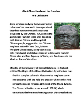 Giant Olmec Heads and the Founders of a Civilization
