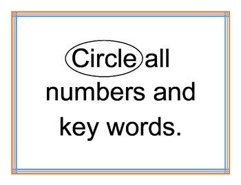 Giant Pencil Word Problem Strategy Chart
