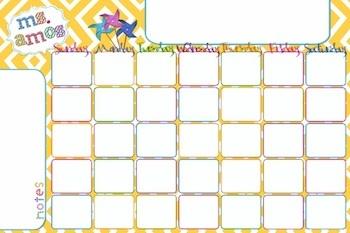 Giant Perpetual Wall Calendar - Free Printable