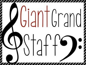 Giant Printable Grand Staff