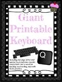 Giant Printable Keyboard