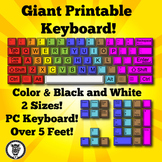 Technology Theme Giant Keyboard