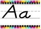 Giant Rainbow Stripe Bright Themed Print alphabet strip