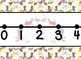 Giant Rainbow Unicorn Themed number line, unit markers and student number lines