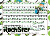 Giant Rock Star Themed number line 0-100