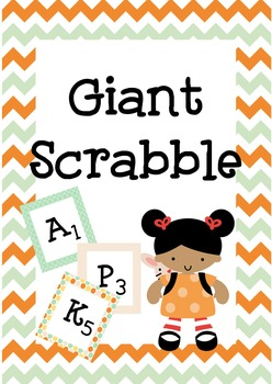 Giant Scrabble Letters, school wide game