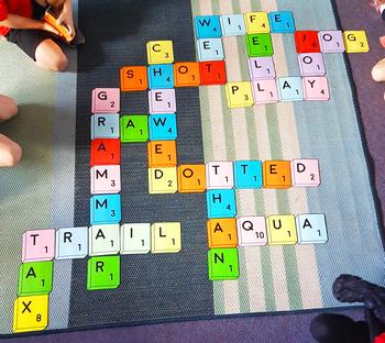 Giant Scrabble Tiles + Scrabble Word Work Bundle