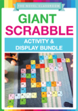 Giant Scrabble Tiles + Scrabble Word Work Bundle