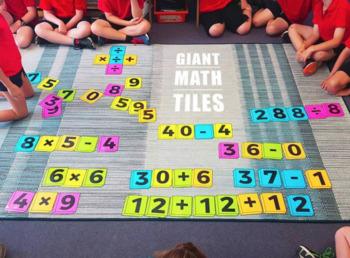 Giant Scrabble and Math Tile Bundle