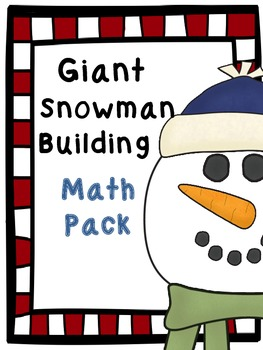 Build a Giant Snowman Inside- Math Pack