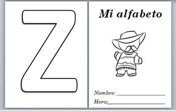 Spanish 1 Template: Spanish Alphabet for Daily word/verb of day