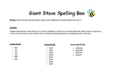 Giant Stave Spelling Bee