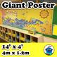 Giant Summer School Poster - Ocean or Beach Theme Mural