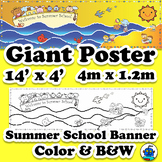 Giant Summer School Poster - Ocean or Beach Theme Mural