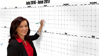 How to Plan With a Dry Erase Calendar