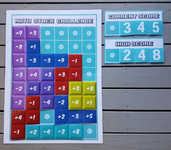 Giant Tetris Math Game - Addition/Subtraction
