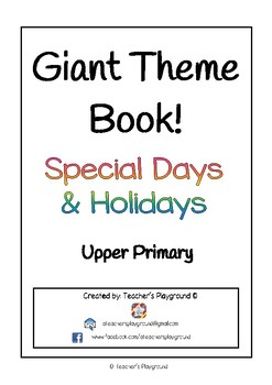 Giant Themed Activity Book for Special Days  & Holidays - Upper Primary