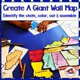 Giant Wall Map Puzzle of the United States