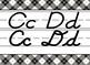 Giant White Cabin themed D'Nealian print and cursive Alphabet Strip