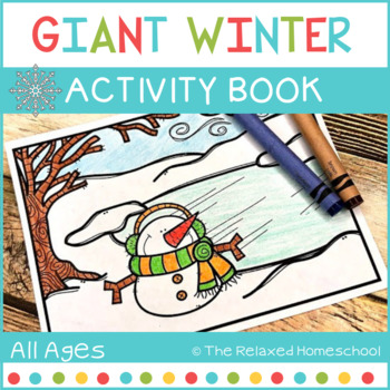 Giant Winter Activity Workbook - Coloring Book