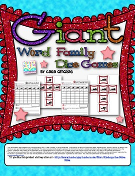 Giant Word Family Glitter Dice Games