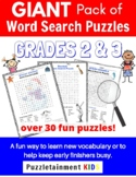 Giant Word Search Puzzle Pack for Grades 2 & 3  (Answers i
